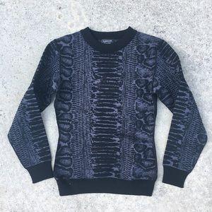 Lanvin Python Print Crewneck Sweater~
